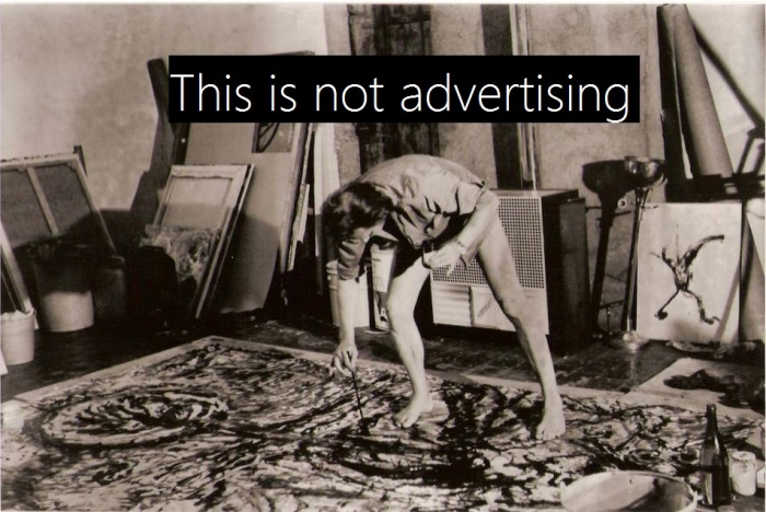 Advertising is not art